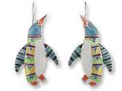 Zarah 20-08-Z1 Penguin Radiance Ultrafine Silver Plate Earrings