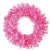 NorthLight 80cm . Pre-Lit Pink Cashmere Artificial Christmas Wreath Clear Lights