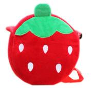Cartoon Fruit Backpack Plush Shoulders Bag