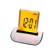 Denshine 7 LED Colour Changing Digital LCD Thermometer Calendar Alarm Clock