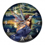 Sylundine Elemental Water & Air Fairy Wall Clock By Alchemy Gothic Round Plate 34cm D
