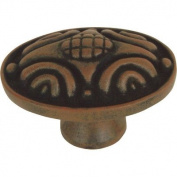 Oval Knob Finish: Rust