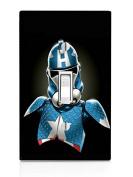 Captain America StormTrooper Art Light Switch Plate