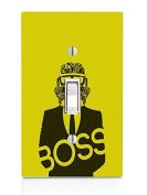 Yellow & Black Boss Stormtrooper Art Light Switch Plate