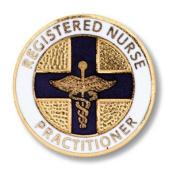 EMI Round Registered Nurse Practitioner Emblem Pin