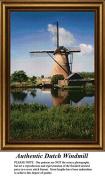 Authentic Dutch Windmill, Windmill Counted Cross Stitch Pattern