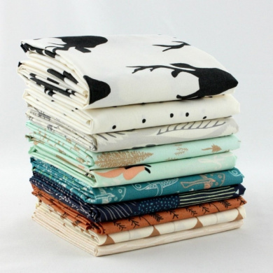 Hello, Bear Timber Fat Quarter Bundle (BC.HB.TI.10FQ) by Bonnie Christine for Art Gallery