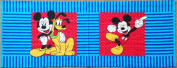 "Disney ""Mickey Mouse & Pluto"" Fabric Pillow Panel - Officially Licenced (Great for Quilting, Sewing, Craft Projects, Pillow Cases or Throw Pillows) 43cm X 110cm"