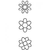7.6cm Flower Mini Blocks Quilting Stencil - 10cm x 38cm by StenSource