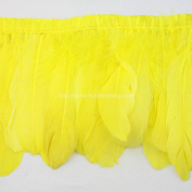 Duck duck goose Yellow feather fringe