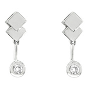Luis Creations EA524 14K Gold Bezel Set Earrings With 0.15 Ct. Of Diamonds