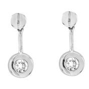 Luis Creations ECR108-030 14K Gold Bezel Set Earrings With 0.30 Ct. Of Diamonds