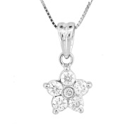 Luis Creations PRL1304 0.40 Ct. Flower Cluster Pendant In 14K Gold