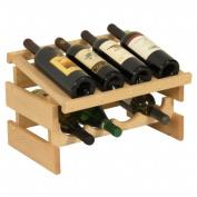 Wooden Mallet WRD41UN 8 Bottle Dakota Wine Rack with Display Top