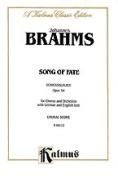 Alfred 00-K06112 Brahms Song Of Fate Op54 Vs Book