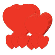 Beistle 77867 Pkgd Printed Heart Cutouts Pack Of 12