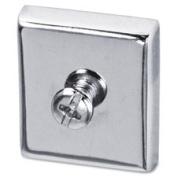Lorell LLR80675 Cubicle Magnets Large 2-CD Aluminium
