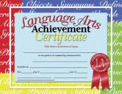 HAYES SCHOOL PUBLISHING H-VA685 CERTIFICATES LANGUAGE ARTS ACHIEVE.