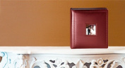 Leather Album Designs CM58041010635B Matted 10X10 Burgandy Bonded Leather 35 Pg - 70 Side Album
