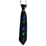 Dress Up America 691 Black Tie with Flashing Lights