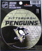 Rico Industries RD7205 Round Vinyl Decal - Pittsburgh Penguins