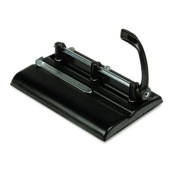 Master. 325B 24-Sheet Lever Action Two- to Seven-Hole Punch 9/32 Holes Black