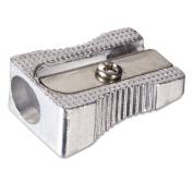 Officemate International Corp. 30218 Metal Pencil Sharpener Metallic Silver 4/Pack
