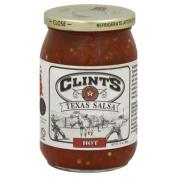Clints Texas Hot Salsa & amp;#44; 470ml & amp;#44; - Pack of 6