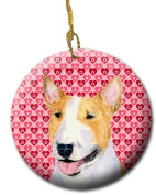 Carolines Treasures SS4496CO1 7.1cm x 7.1cm . Bull Terrier Ceramic Ornament