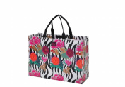 Joann Marie Designs P2LTAFP Poly Large Tote - Asian Floral Pack of 6