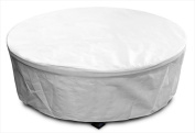 KoverRoos 23067 DuPont Tyvek Large Firepit Cover White - 45 Dia x 21 H in.
