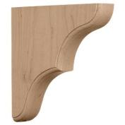 Ekena Millwork BKTW02X10X10STRO 4.4cm . W x 25cm . D x 25cm . H Stratford Wood Architectural Bracket Red Oak