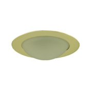 Jesco Lighting TM315PB Aperture Low Voltage Shower Trim with Frosted Dome Polished Brass Finish 7.6cm .