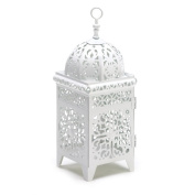 Eastwind Gifts 38332 White Filigree Candle Lantern