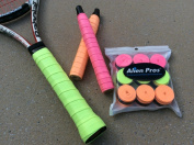Alien Pros Tacky-feel Neon-Colour Overgrips Pack of 9 Pieces