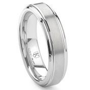 Cobalt XF Chrome 6MM Raised Centre Wedding Band Ring