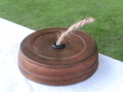Wide Mouth Mason Jar String/Yarn/Twine Dispenser Converter - Rusty Lid