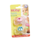 Nuby Pastels Classic Oval Pacifier 0-6mths 2 Pack
