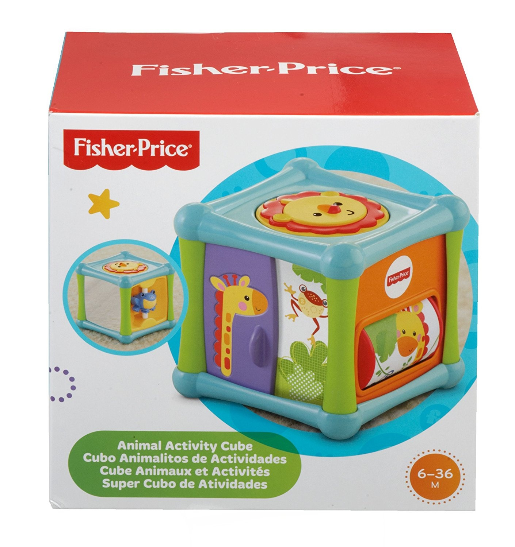 Fisher Price სათამაშო კუბი ცხოველებით