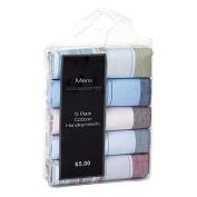 Accessories Men's Essentials Border Handkerchiefs 5 Pack Assorted