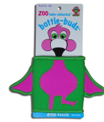 KidKusion Bottle-Bud Koozie, Green Flamingo