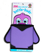 KidKusion Bottle-Bud Koozie, Black Penguin