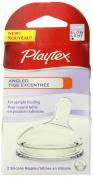 Playtex Angled Nipple, Slow Flow, 2-Count