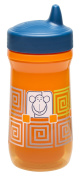 Zak Designs Toddlerific Perfect Flo Spout Toddler Cup with Orange Monkey, Double Wall Insulated Construction and Adjustable Flow Technology, Break-resistant and BPA-free Plastic, 260ml