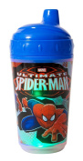 Marvel Spiderman Double Wall Led Light Up Sip Cup, Blue