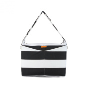 Foxy Vida Prive Nappy Bag, Black Stripe