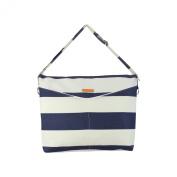 Foxy Vida Prive Nappy Bag, Navy Stripe