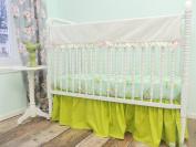 Tushies and Tantrums Bumperless Cribset, Mockingbird Print, Aqua/Pink/Green/Gold