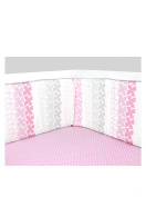 Olli & Lime Logan Crib Bumper, Pink/White