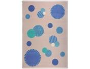 Joy Carpets Playful Patterns Children's Baby Dots Area Rug, Blue, 0.9m x 1.5m